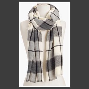Talbots Windowpane Plaid Scarf